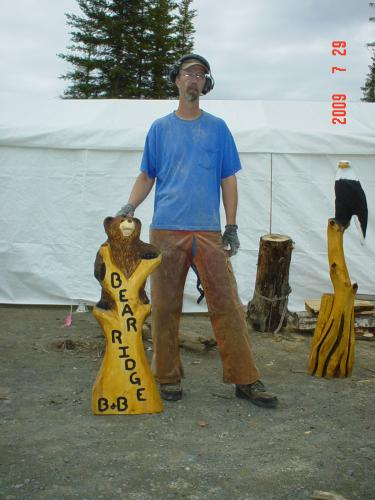 Signs Chain Saw Carving Sculpture