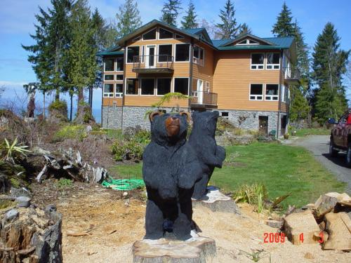 Two Black Bears from Stumps