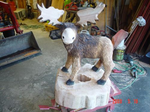 Moose Chainsaw Carving Chain Saw Sculpture