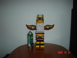Small chainsaw carved Tlingit totem