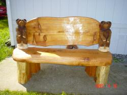 Mini Bear Bench chainsaw carving