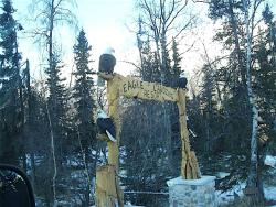 Eagle Landing Resort chainsaw sculpture