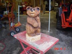 Happy Bear chainsaw crafted gift
