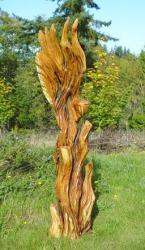 Abstract eagle chainsaw art sculpture