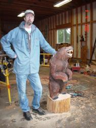 Baby Grizzly Chainsaw Carving