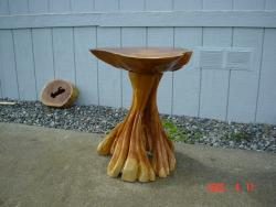 Burl Table chainsaw carving art sculpture