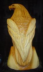 Cedar Eagle clear chainsaw wood sculpture