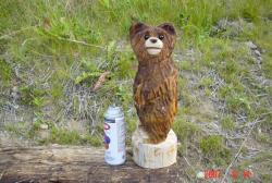 Mini Bears chainsaw carving