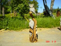 Owl Tree chainsaw wood sculpture