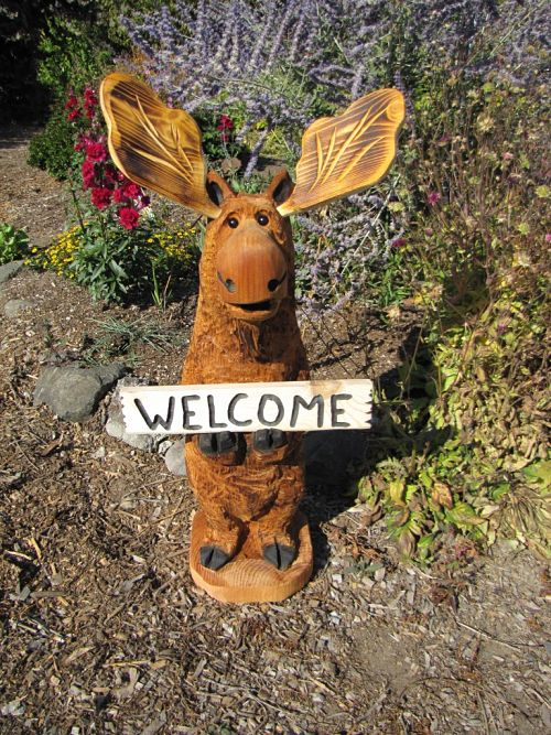wood carving moose | Camp Long | Pinterest